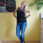 Lace and jeans outfit & weekly link up #120