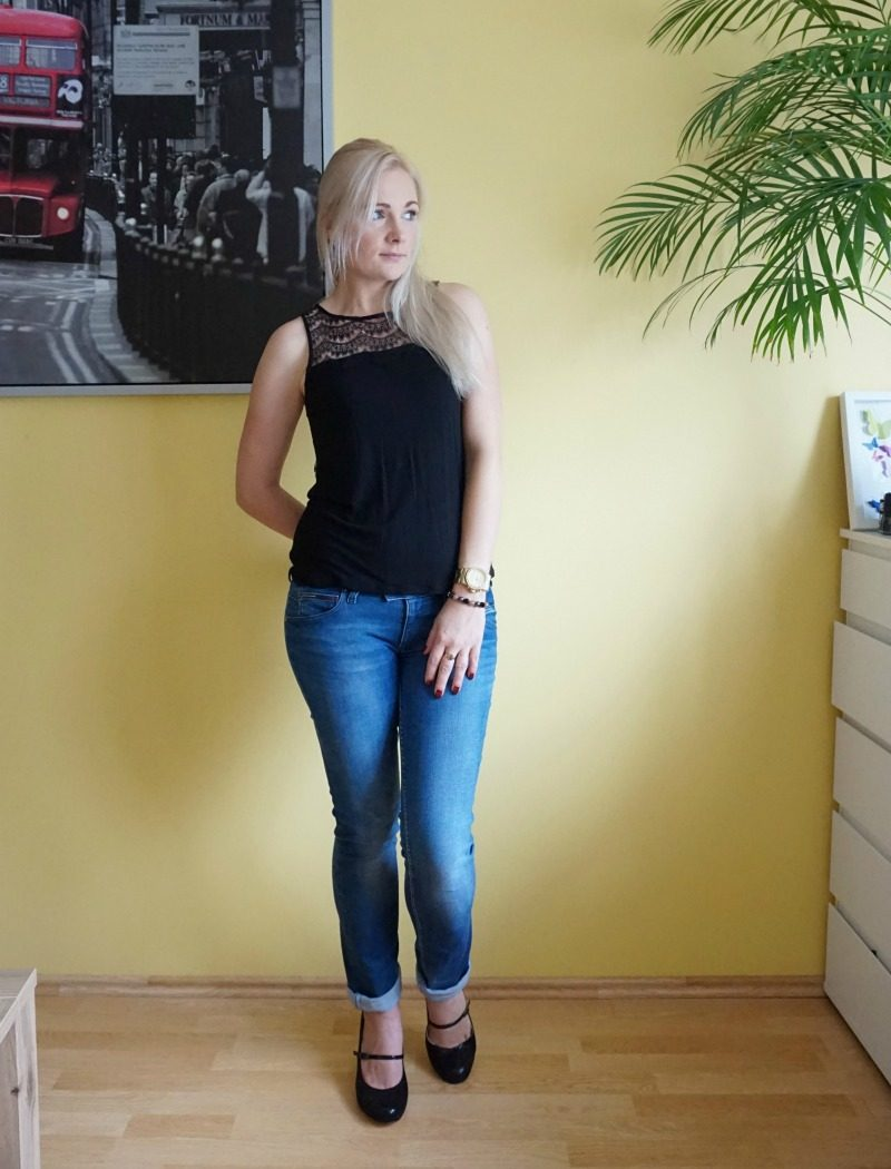 Lace and jeans outfit weekly fashion link up