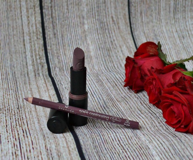 Perfect match - Essence Ultra Last Instant Colour lipstick in 05 so un-grey-tful & Soft Contouring lipliner in 11 sucker for grey.