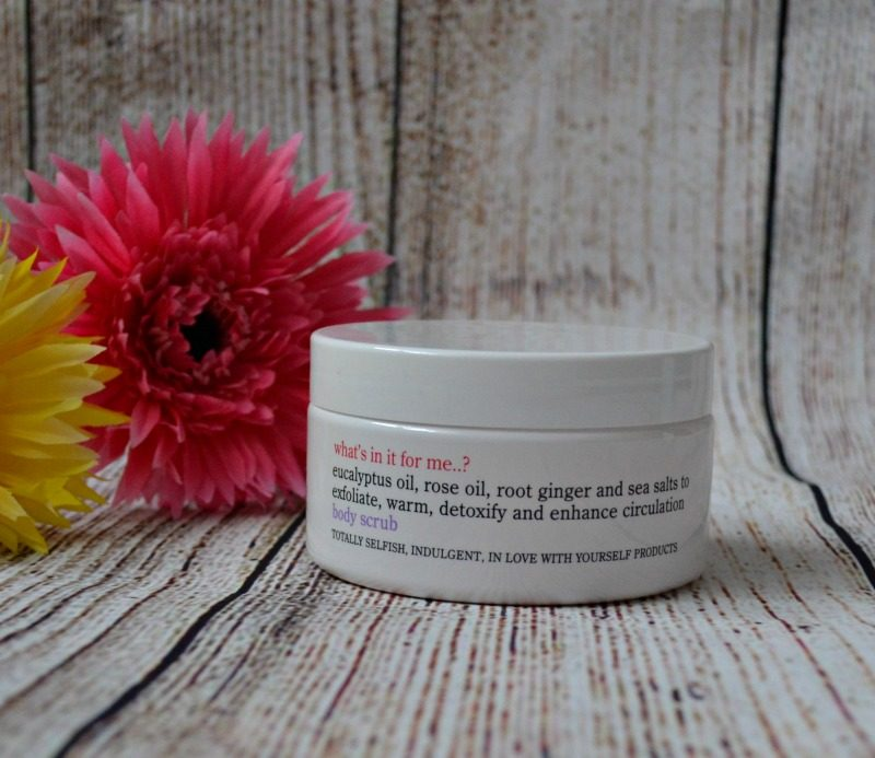 What's in it for me? body scrub