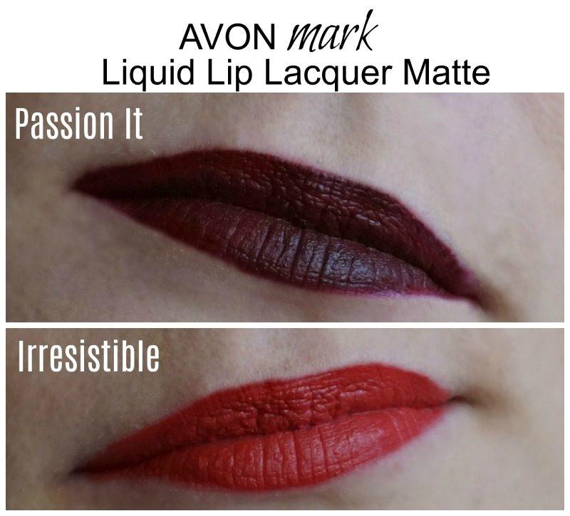 avon mark liquid lip lacquer matte swatches