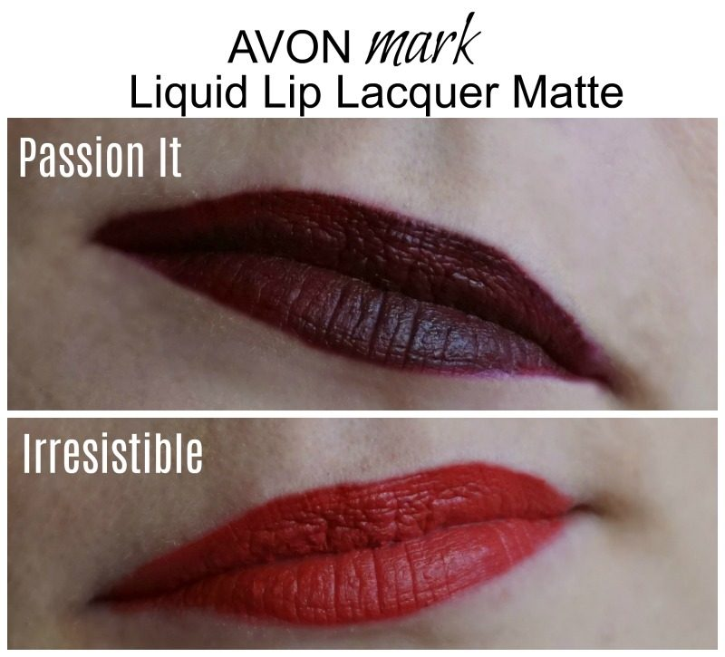 avon mark liquid lip lacquer matte swatches