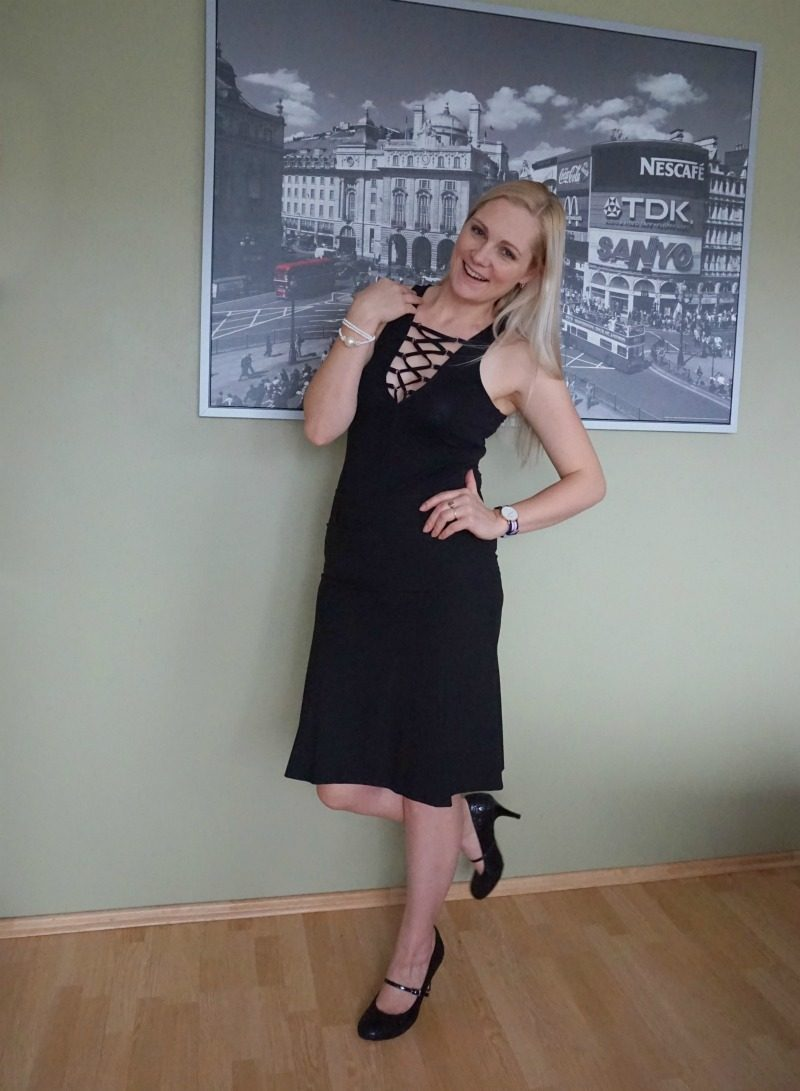lace up bodysuit black skirt