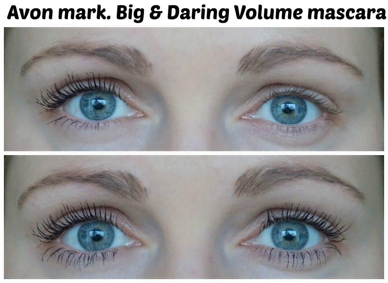avon mark big & daring volume mascara before after
