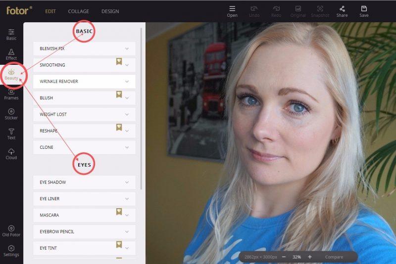 onlinephotoeditingand designing tool—Fotor