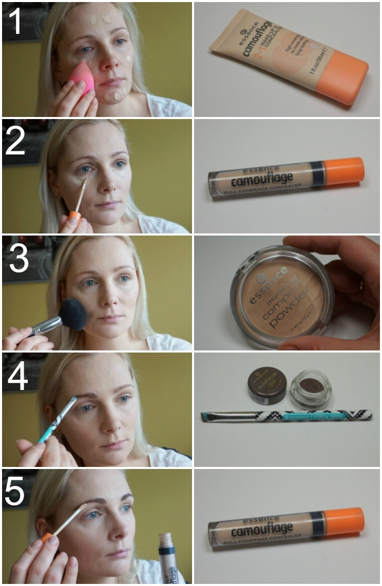 simple makeup with Essence makeup products