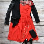 Red and black Christmas Party outfit idea + weekly link up