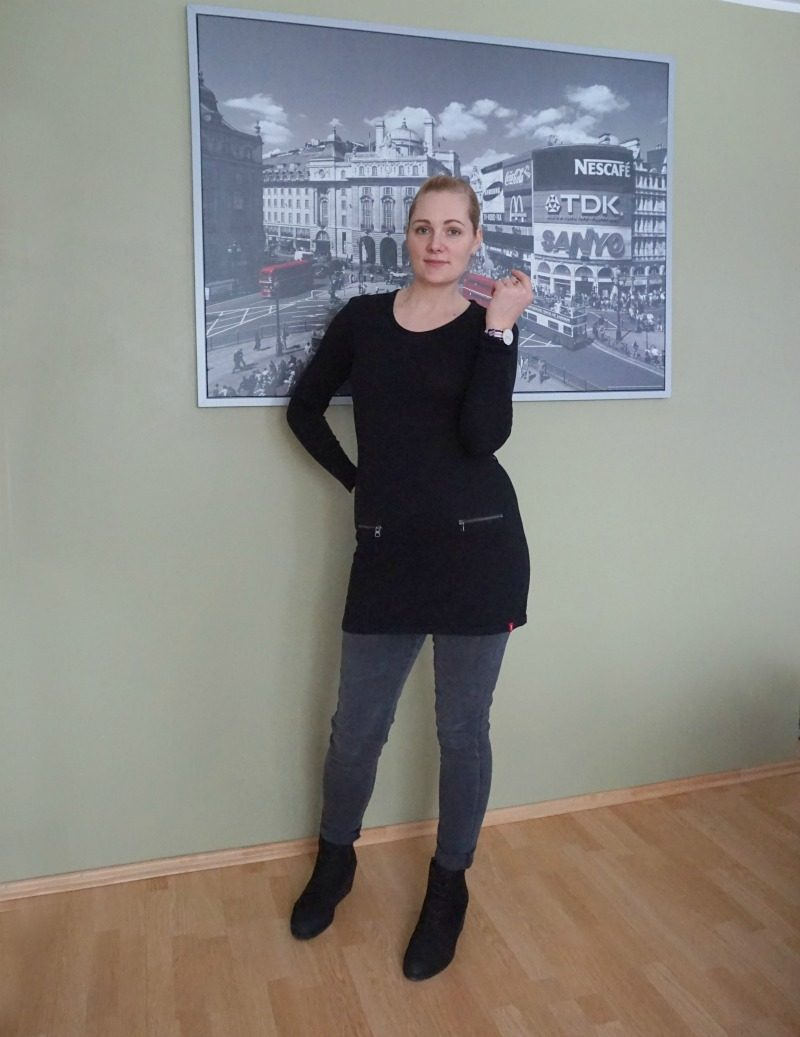Esprit sweater James Jeans maternity jeans Ecco boots