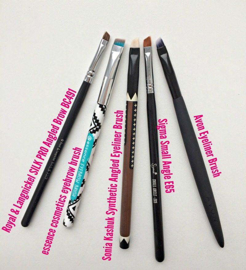 Eyebrow and eyeliner brushes