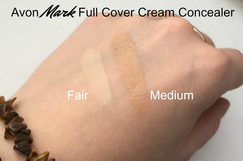 Full Cover Cream Concealer fair medium swatch