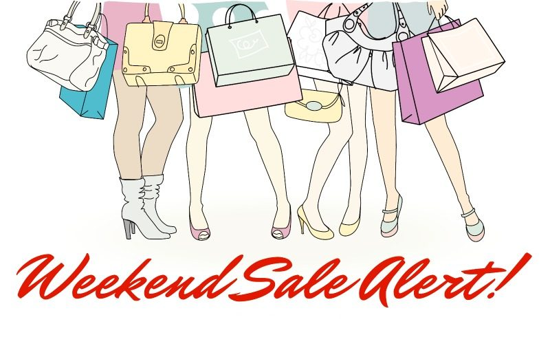 weekend sale alert