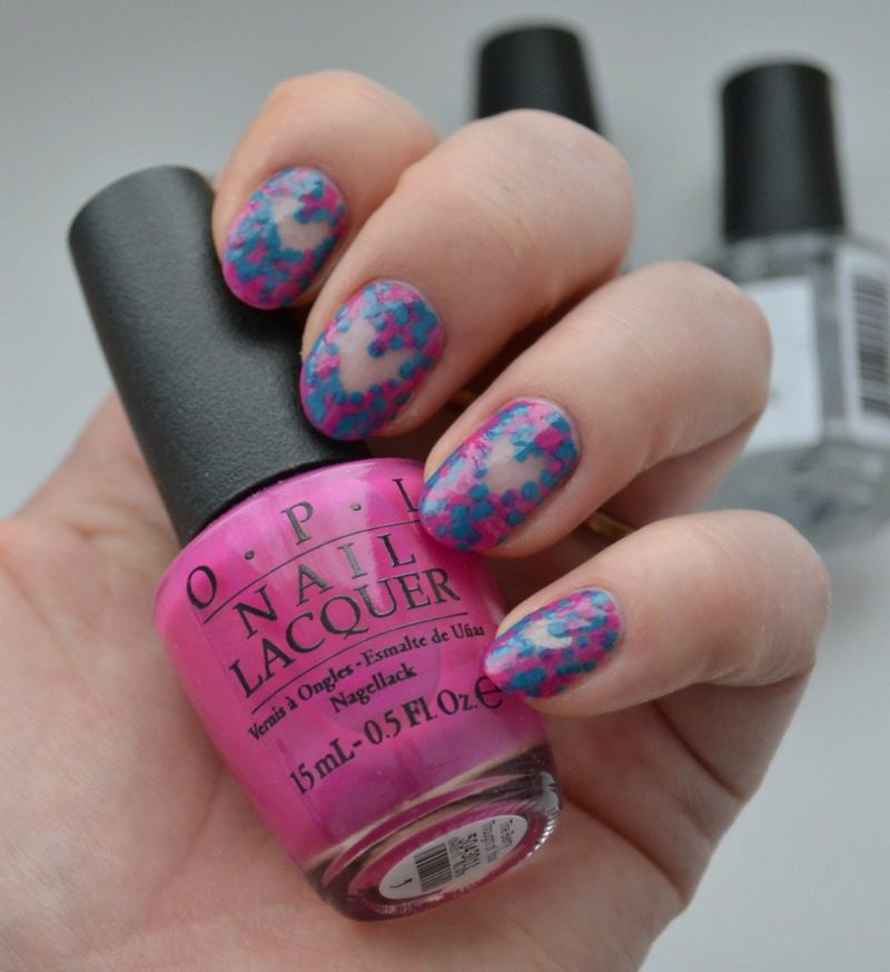 negative space dotticure for Valentine's Day. Negative space nail art