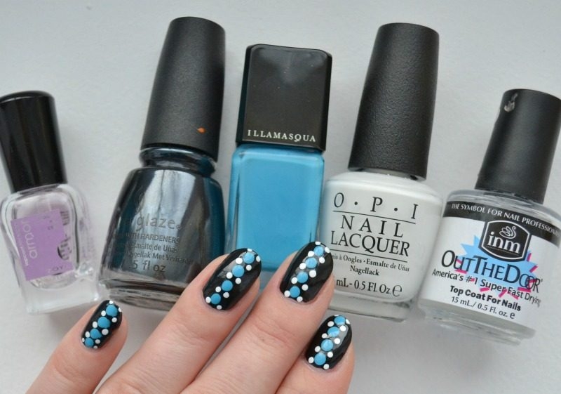 blue black white dotticure for EV100