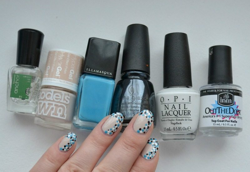 blue black white dotticure