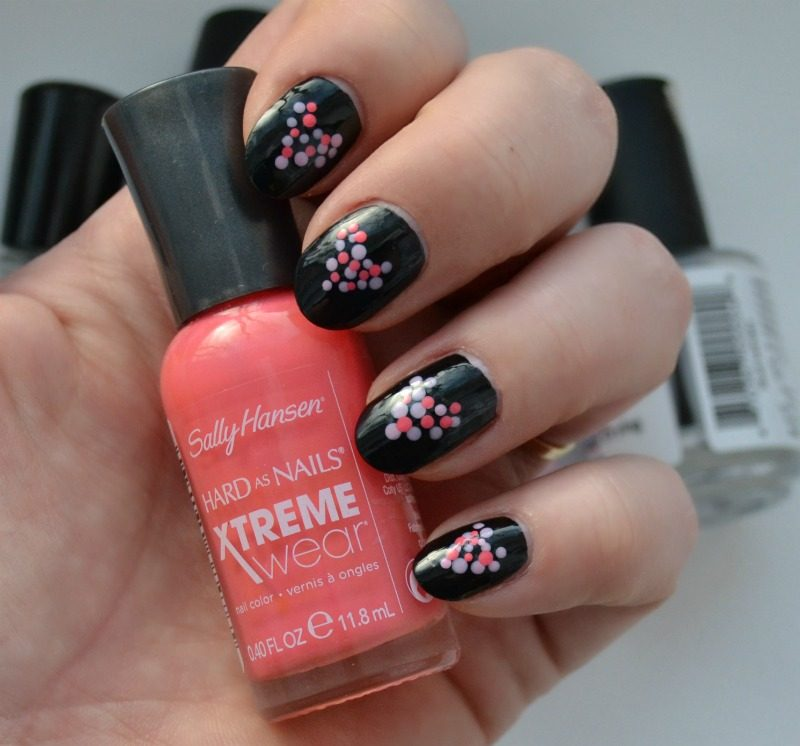 14 Days Of Valentines Day Easy Dots And Heart Nail Design