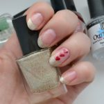 14 Days of Valentine's Day | Gold and Red French Manicure