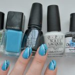 EV100 | Simple Blue Black White Nails