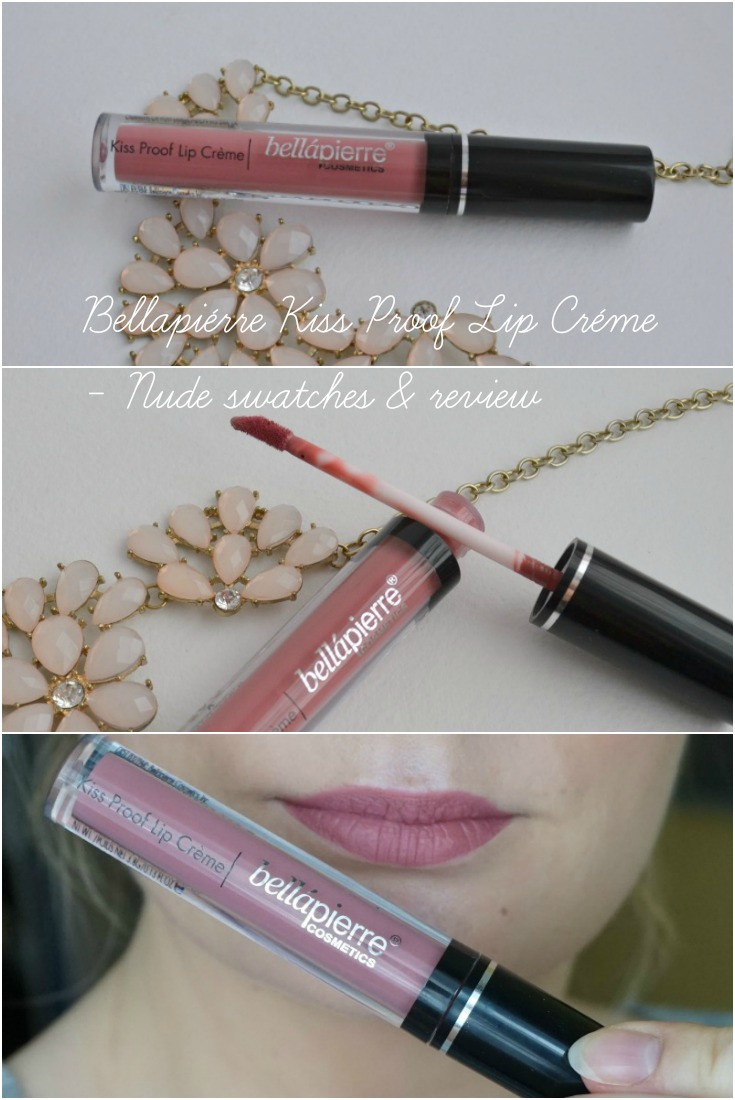 Bellapiérre Kiss Proof Lip Créme in shade Nude swatches and review