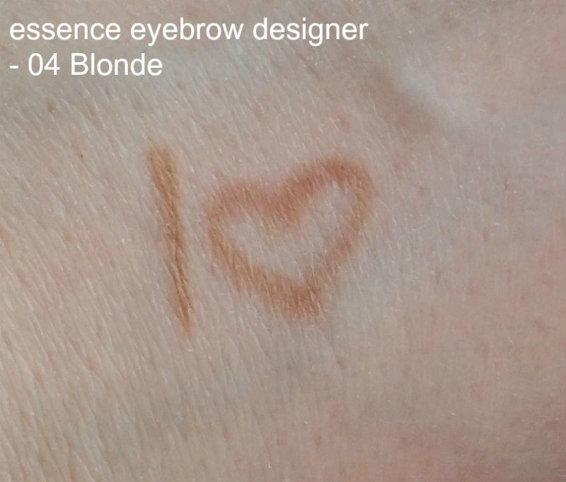 essence eyebrow designer blonde swatches