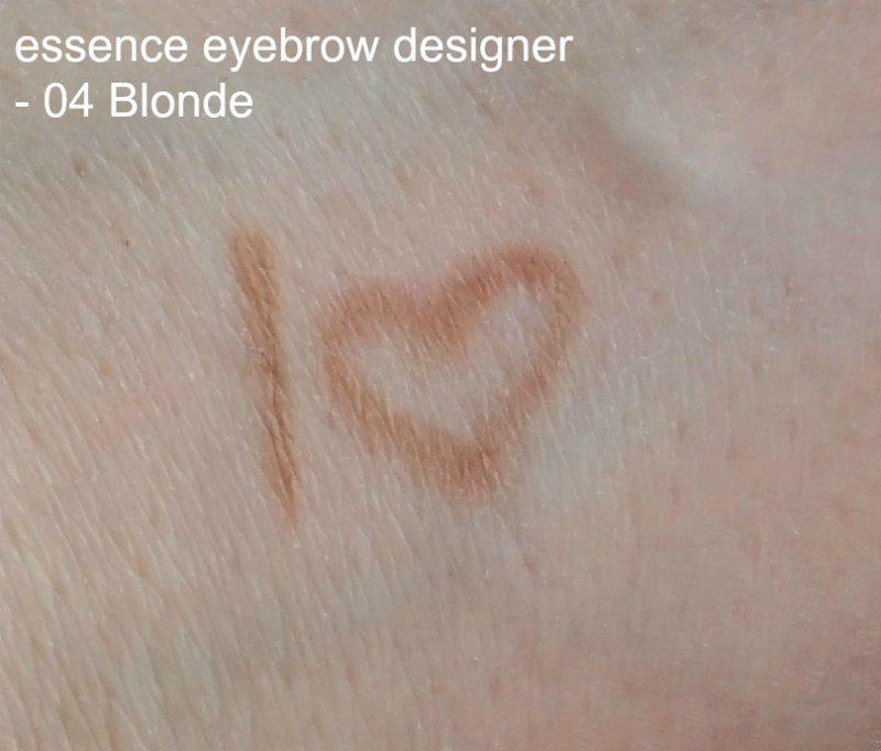 essence eyebrow designer blonde swatches