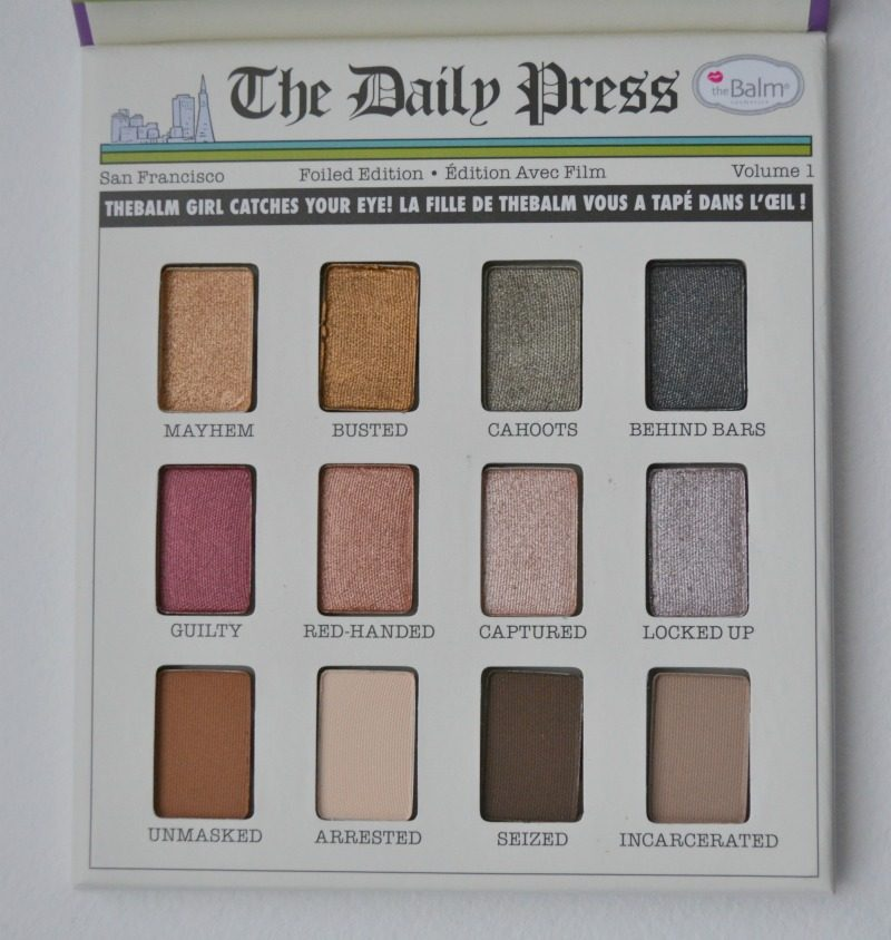 theBalm Foiled Again Foil Eyeshadow palette
