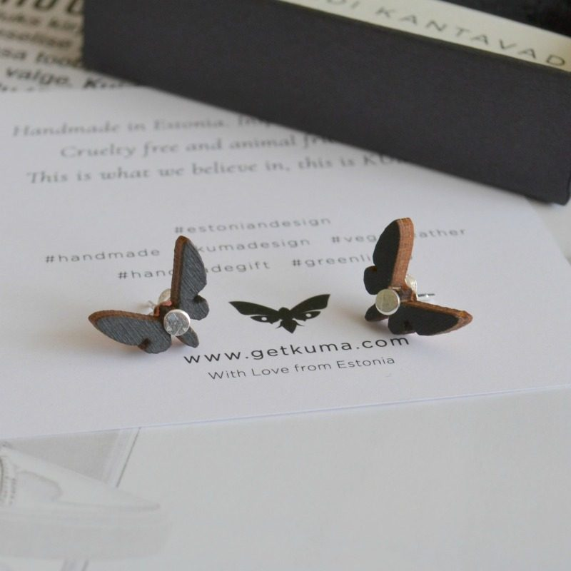 Kuma handmade wooden earrings