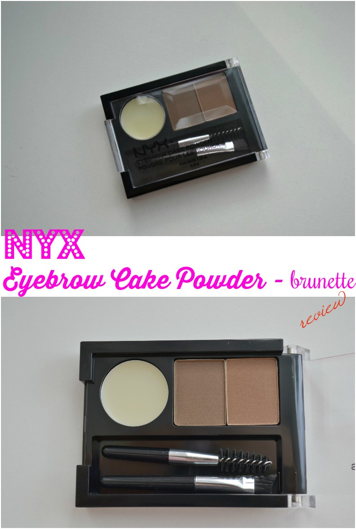 NYX Eyebrow Cake Powder - Brunette review