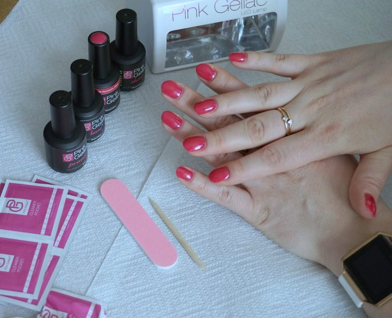 Pink Gellac finished manicure