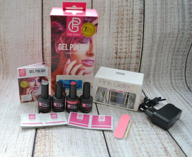 Pink Gellac starter kit contains