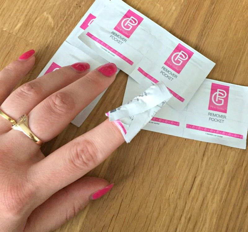 how to remove pink gellac gel nail polish
