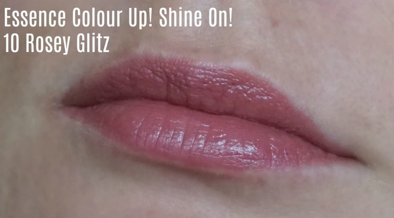 Essence Colour Up! Shine On! lipstick 10 Rosey Glitz swatch
