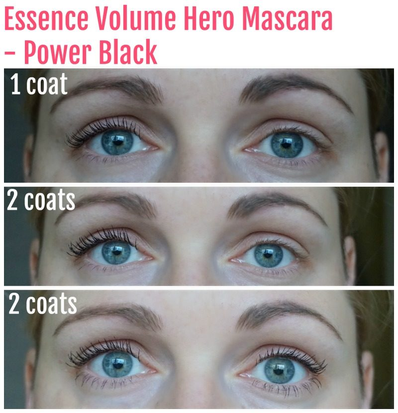 Essence Volume Hero Mascara before after