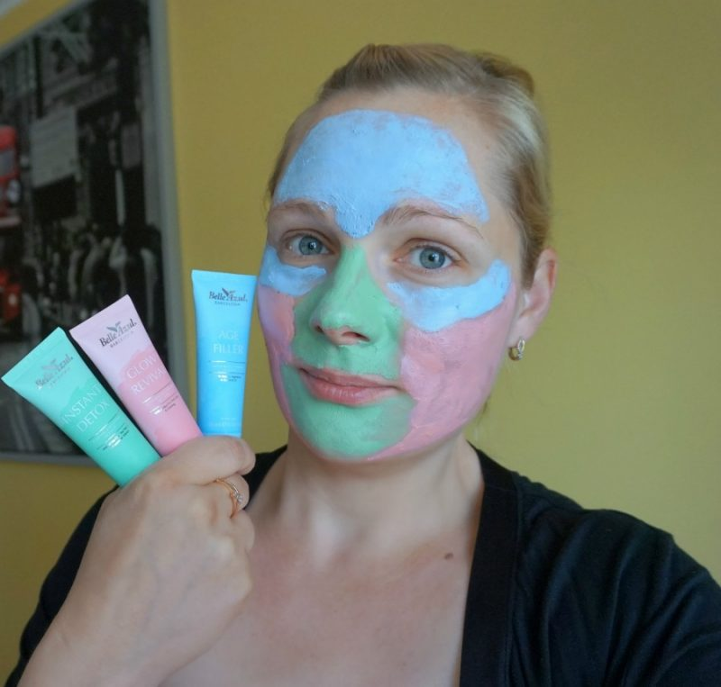 Belle Azul 360 Mask Collection in use