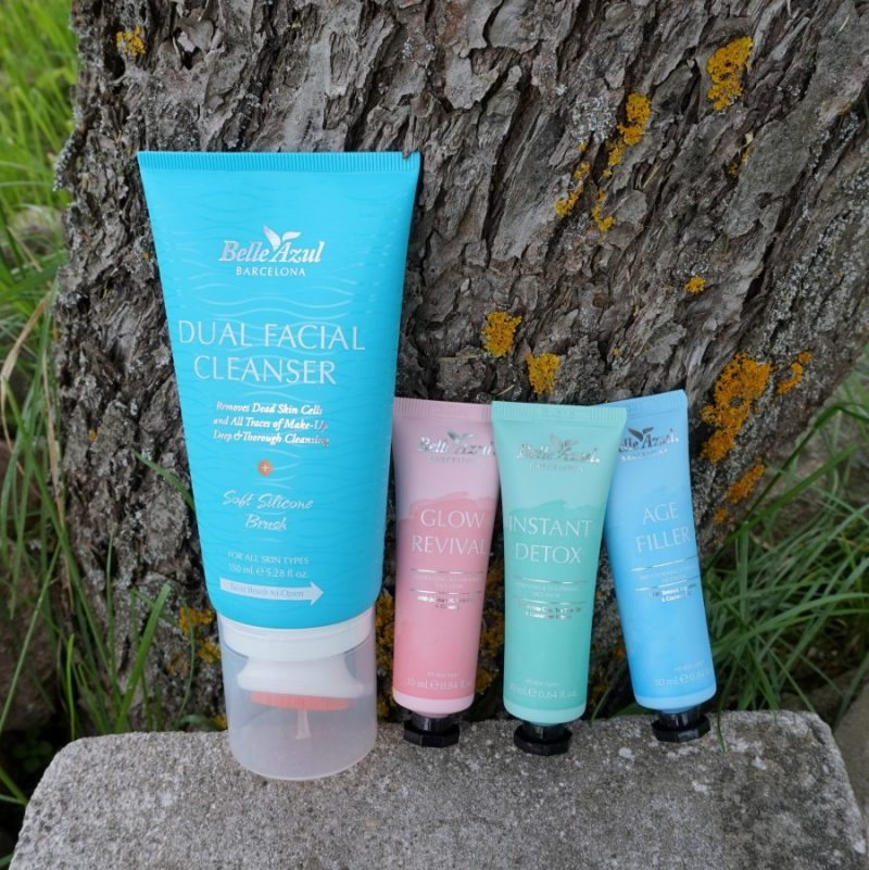 Belle Azul Dual Facial Cleanser. Belle Azul 360° Mask Collection
