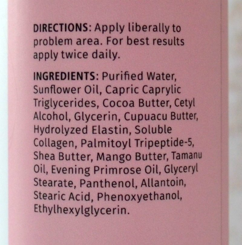 Reviva Labs Stretch Mark Prevention Lotion ingredients