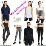 My activewear wishlist & Miss L weekly link up #160