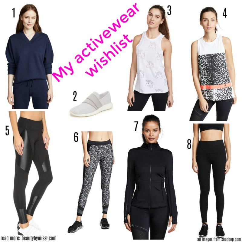 My activewear wishlist: adidas by Stella McCartney, Kenzo, Terez, Wince, Koral Activewear, Yummie