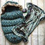 Elodie Details Everest Feathers Footmuff & Pearl Velvet Blanket
