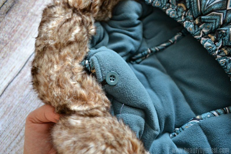 elodie details Removable faux fur hood trim
