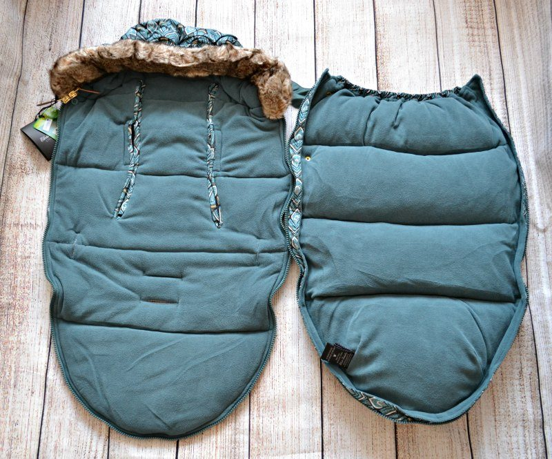 footmuff with removable top part