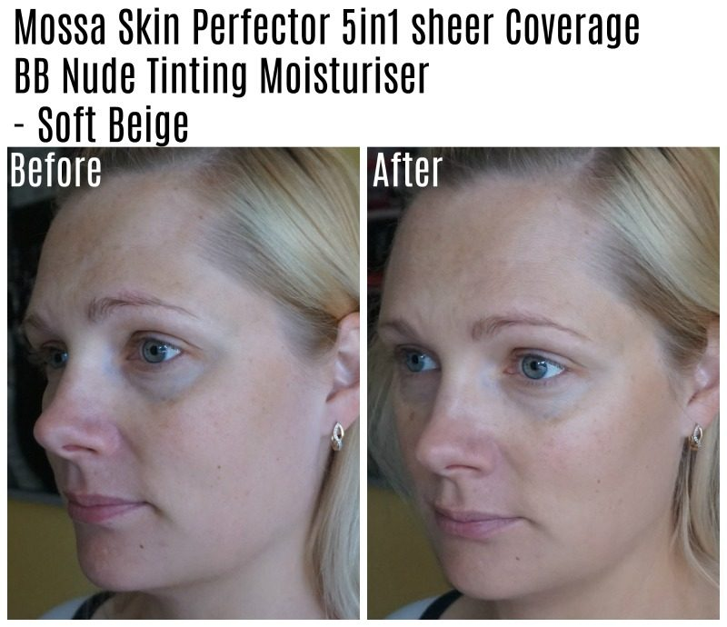 Mossa Skin Perfector BB Nude Tinting Moisturiser before after