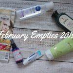 February Empties 2019