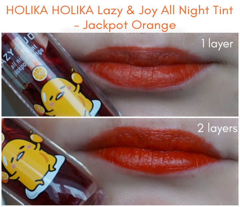 HOLIKA HOLIKA Lazy & Joy All Night Tint - Jackpot Orange swatch