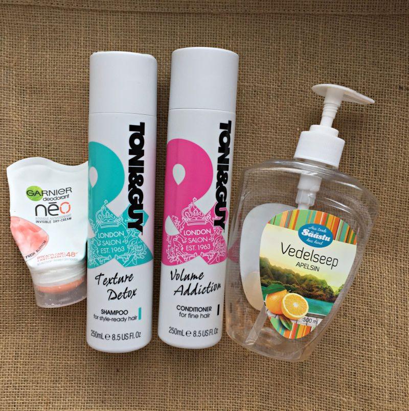 March empties 2019. Garnier Neo Intensive Antiperspirant Invisible Dry-Cream. Toni&Guy Texture Detox Shampoo & Volume Addiction conditioner.