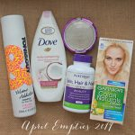 april empties - product I completely finished in April
