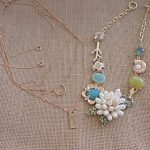 Happiness Boutique layered necklace and floral statement necklace