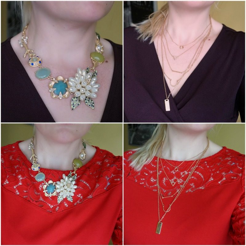 Happiness Boutiqe statement necklace and layered necklace