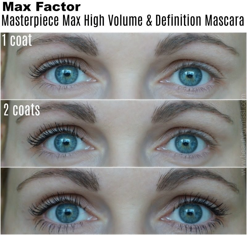 how does Max Factor Masterpiece Max High Volume & Definition Mascara looks on my lashes