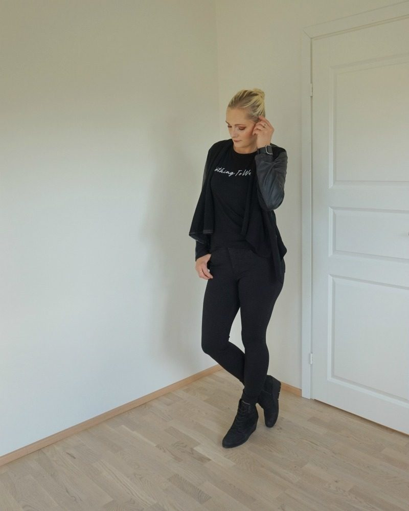 black on black outfit