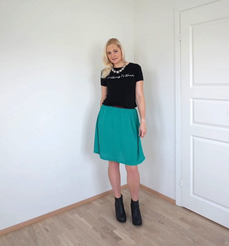 black and green outfit
